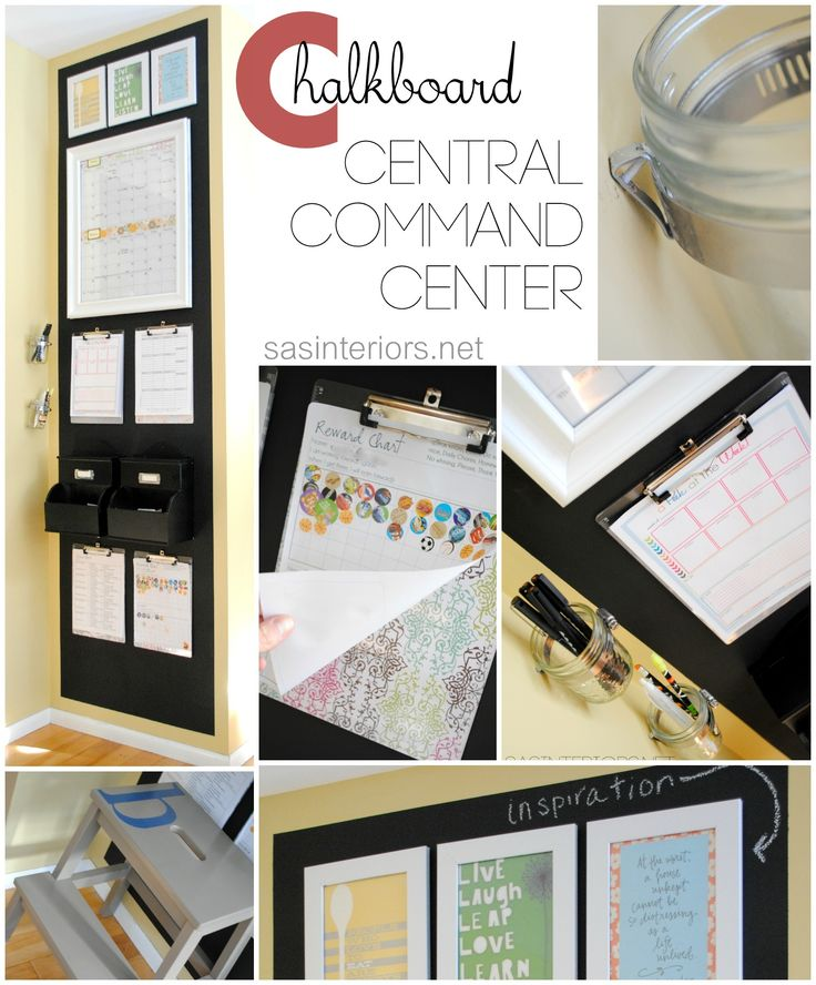 Revamped Family Chalkboard Central Command Center