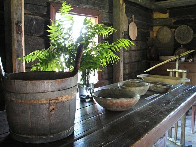 Inside old house in Turkansaari open air museum