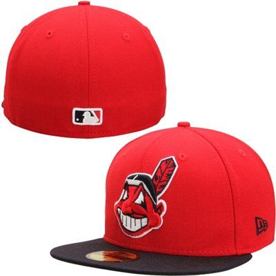 Cleveland Indians New Era 2-Tone Southpaw 59FIFTY Fitted Hat - Red