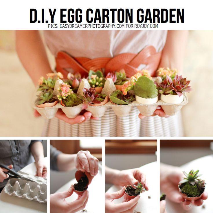 Egg Carton Garden from RoyJoy.com, featured on ScrapHacker.com Egg Carton DIY Round-up