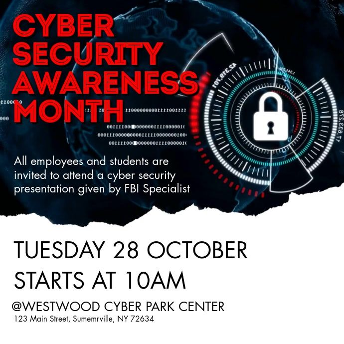 Cyber Security Awareness Month In 2020 Cyber Security Awareness Month Cyber Security Awareness Cyber Security