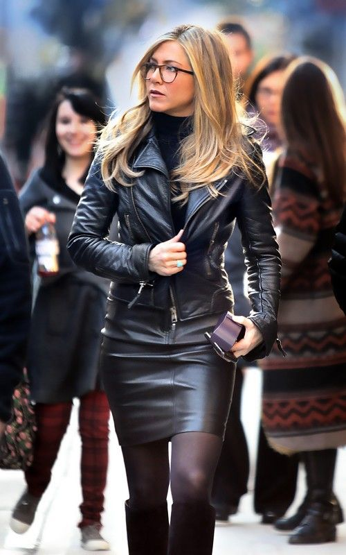 Handmade Jennifer Aniston in Leather Jacket Black real leather ...
