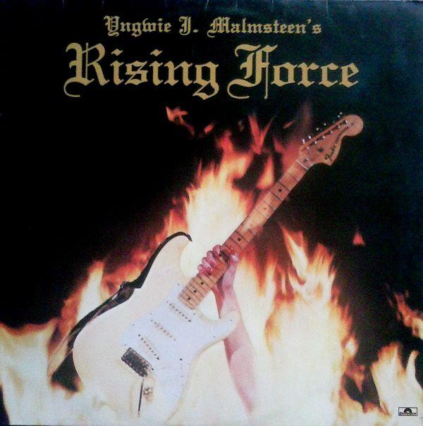 """Yngwie J. Malmsteen's Rising Force  Primeiro disco da carreira de Yngwie Malmsteen. Chegou ao número 60 da parada da Billboard, uma marca impressionante para um disco que era praticamente todo voltado à guitarra e que não teve nenhum tipo de apoio comercial. Esse trabalho valeu a Yngwie uma indicação para o Grammy na categoria """"melhor performance de rock instrumental"""". Rising Force é amplamente considerado um disco seminal para os gêneros shred e metal neoclássico"""