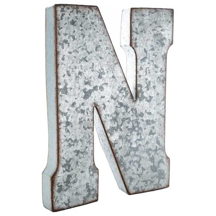 75 best images about wall decor letters on pinterest for Giant galvanized letters