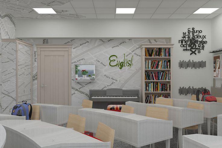 Кабинет английского языка для Политехнического колледжа - Волховец. Объединяя пространства. Межкомнатные двери – как основа интерьера | PINWIN - конкурсы для архитекторов, дизайнеров, декораторов