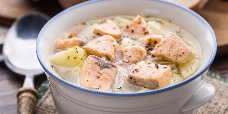 Σούπα με σολομό και πάπρικα