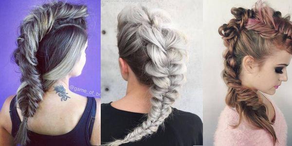 Very stylish option for your hair! Εκπληκτικές Mohawk πλεξούδες!