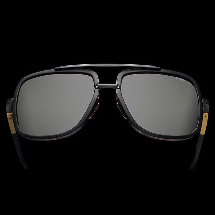 Mach-One now in matte black & gold. Inspired by the love of fast cars, quick boats & sleek planes. #DITAeyewear