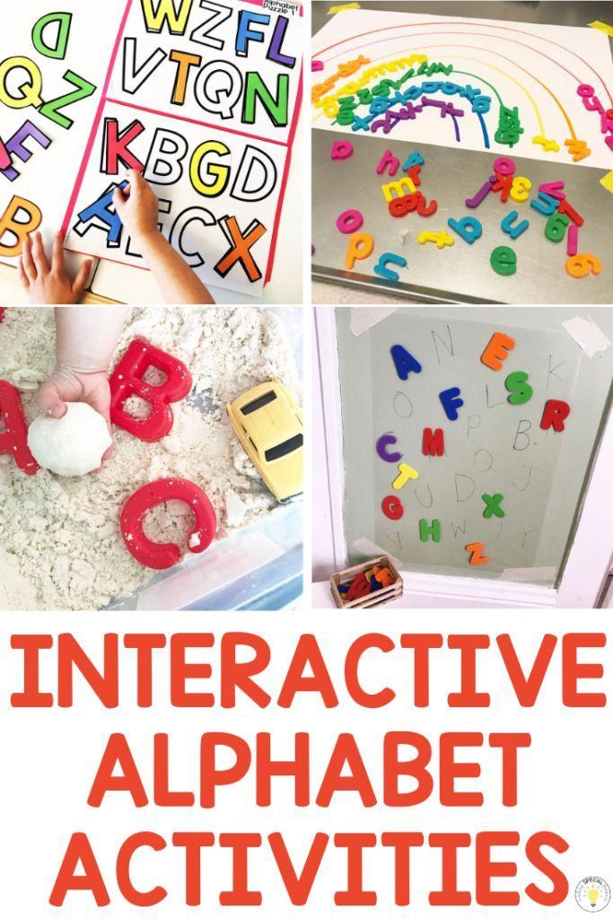 20 Interactive Alphabet Activities to WOW Your Kids