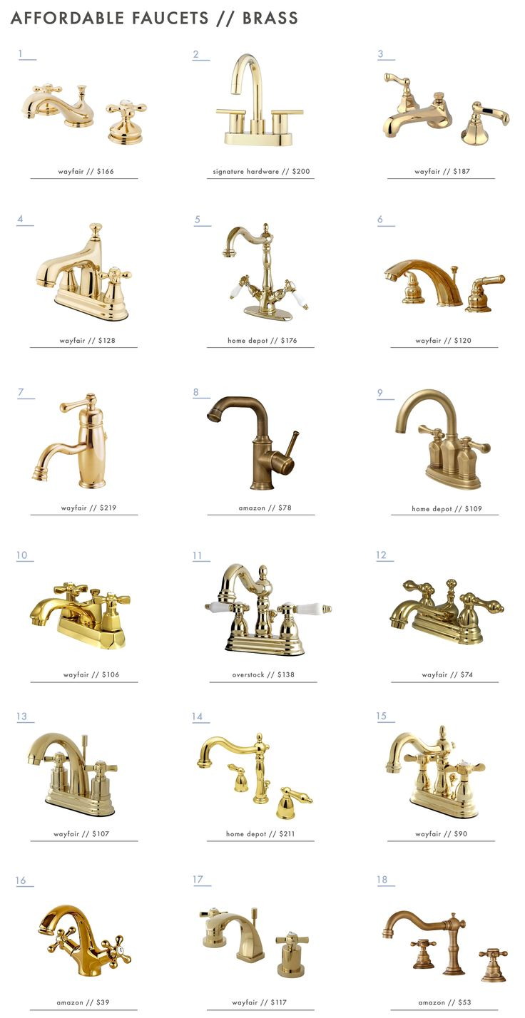 18 Affordable Brass Bathroom Faucets