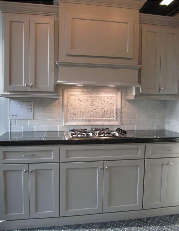 Best Gray Cabinets Black Counters Slate Herringbone Floor 400 x 300