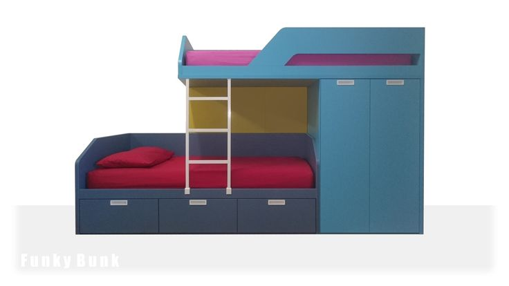 Funky Bunk Staggered Bunk Bed Off Set Bunk Bed Sofa
