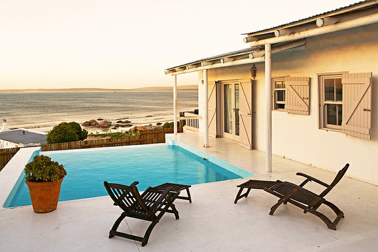 Seaside Self Catering Cottages in Paternoster, Cape West Coast are two sumptuous open-plan cottages with magnificent views of the sea and beach. Each cottage boasts a spectacular 4x5 metre rim-flow infinity swimming pool. http://www.wheretostay.co.za/seasidecottages-paternoster