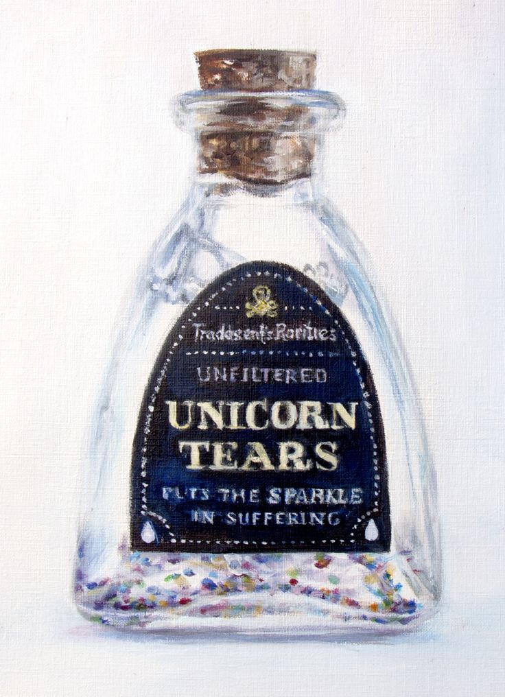 Pin 040 Unicorn Tears, acrylic on paper,' If you love it so much why don't you Paint It' series