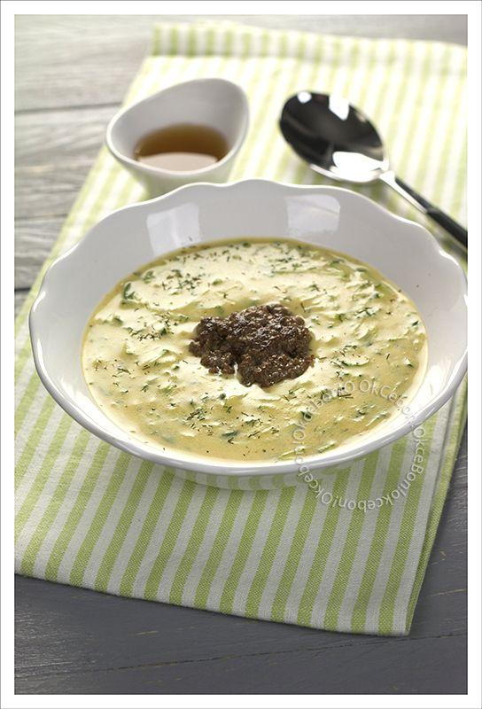 Tökfozelék et ses fasirozott (soupe de courgette à l'aneth et boulettes)