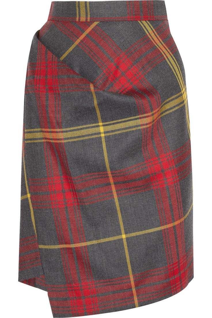 VIVIENNE WESTWOOD ANGLOMANIA  New Accident checked wool skirt  $325