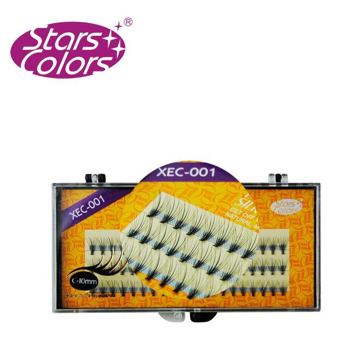 Nuovo 3 Strisce/Pacchetto di Seta nero Falso Ciglia C Curl Extension Ciglia Individuali Ciglia Finte Spessore (0.10mm) 8/10/12mm