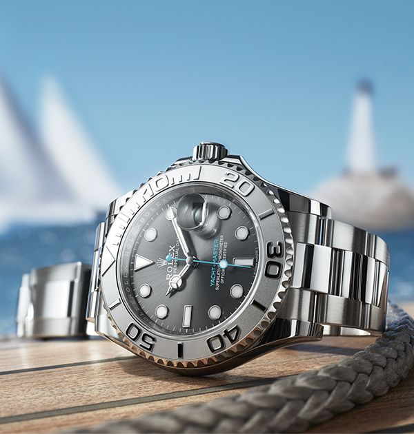 Sleek, sporty and distinguished, the new Rolex Yacht-Master, available in 40 and 37 mm, is just as at home on deck as on land in a yacht club lounge.