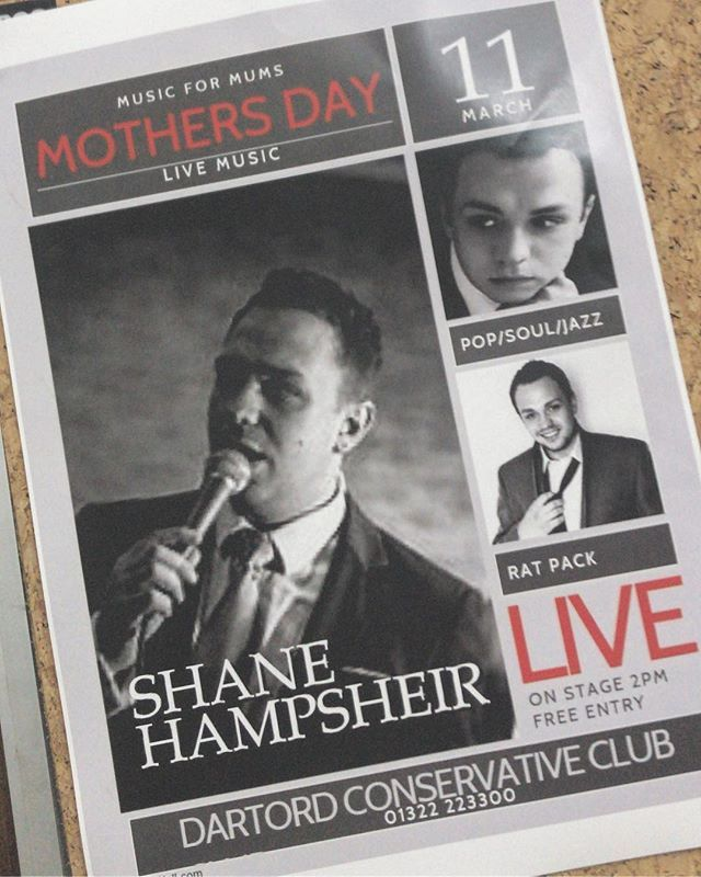 THIS MOTHERS DAY at Dartford Cons. Club Kent. Come join me for some cool classics and a tasty Mothers Day lunch. Then Ill head off to see MY Mum!