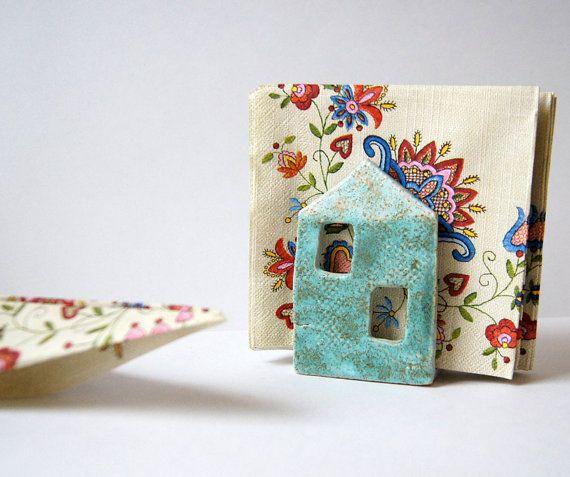 Servet houder-Tin House spons houder-keramiek en van Vsocks op Etsy