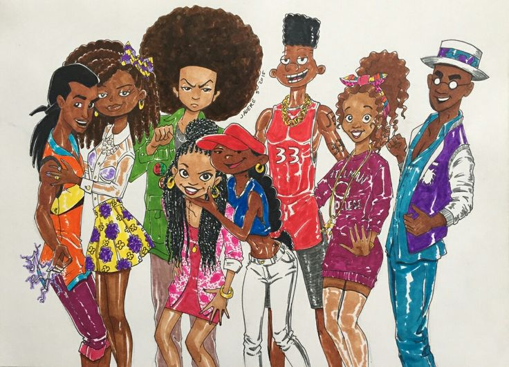 Static shock, susie carmiachael, huey freeman, penny proud, numbuh 5, Gerald, Kesha and Fillmore