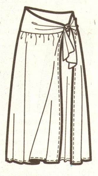 Пляжная юбка с запахом выкройка