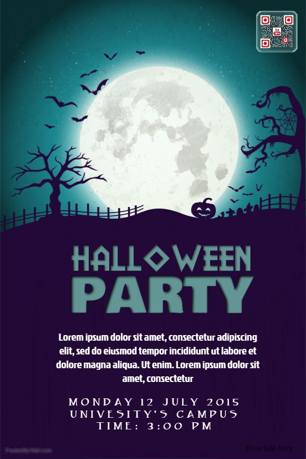 63 best Halloween Poster Templates images on Pinterest