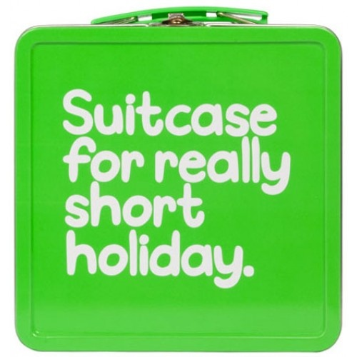 Suitcase For Really Short Holiday Tin from Sarah J Home Decor. $16.95