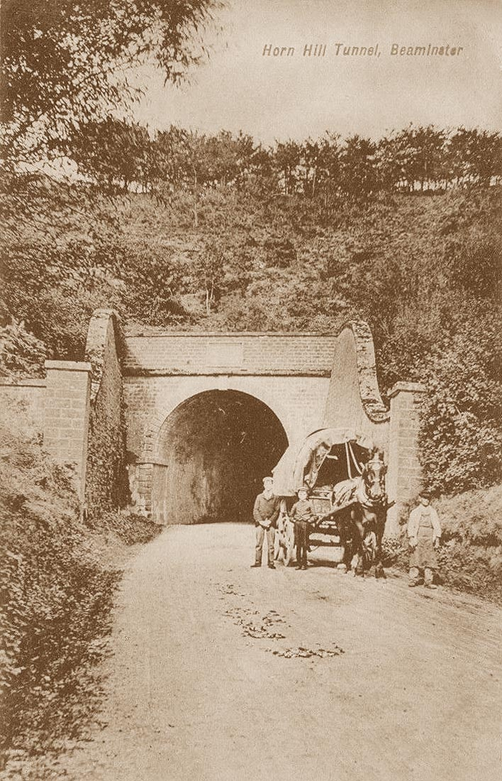 Horn Hill Tunnel -Old Photos of Beaminster in Dorset, England, United Kingdom of Great ...