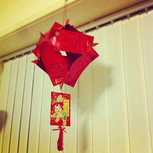 how to make fish lantern using red packet