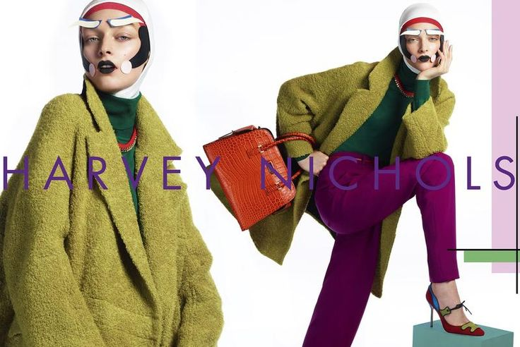 Harvey Nichols AW12 Campaign with paper makeup