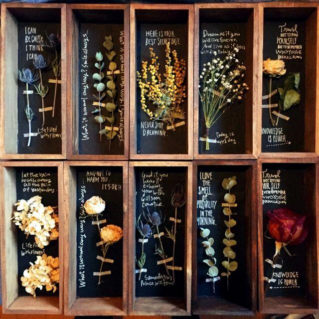 ig-regalo96です♡/木箱/ドライフラワー/花のある暮らし/boxフラワー…などのインテリア実例 - 2015-05-05 19:04:20 | RoomClip(ルームクリップ)