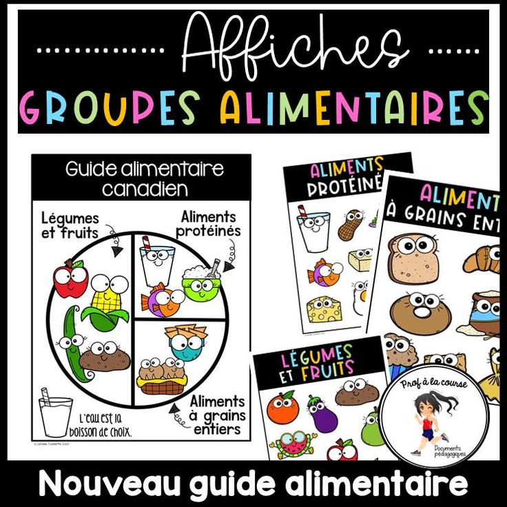 French Food Groups Posters Alimentation Groupes