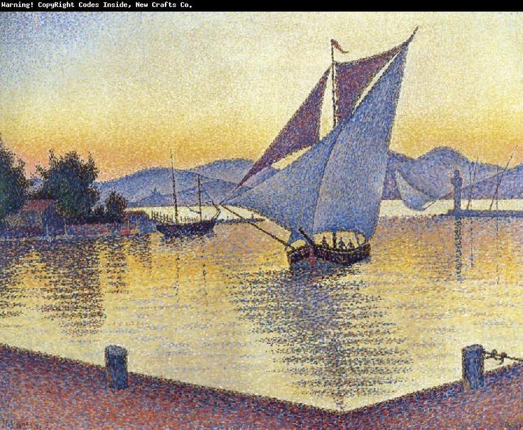 Paul Signac-  port at sunset
