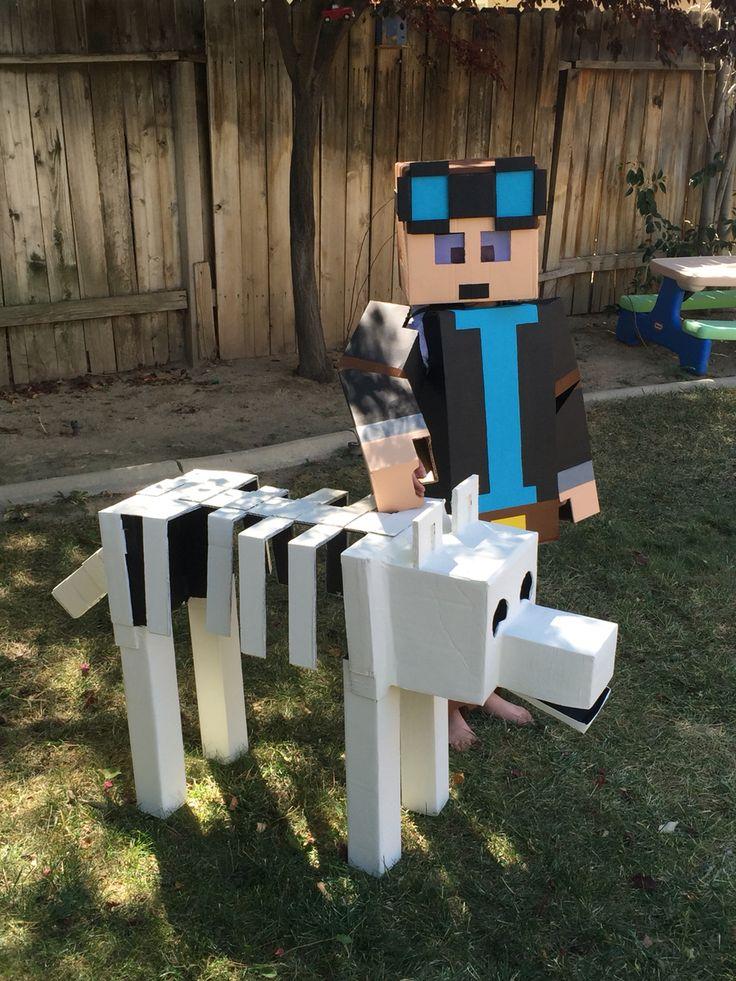 Minecraft Dantdm costume with Grim