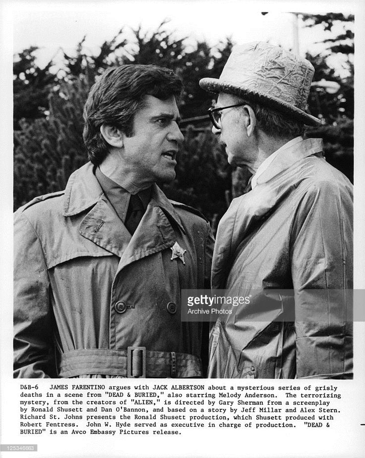 James Farentino And Jack Albertson argue in a scene from the film ' Dead And Buried', 1981. Description from gettyimages.com. I searched for this on bing.com/images