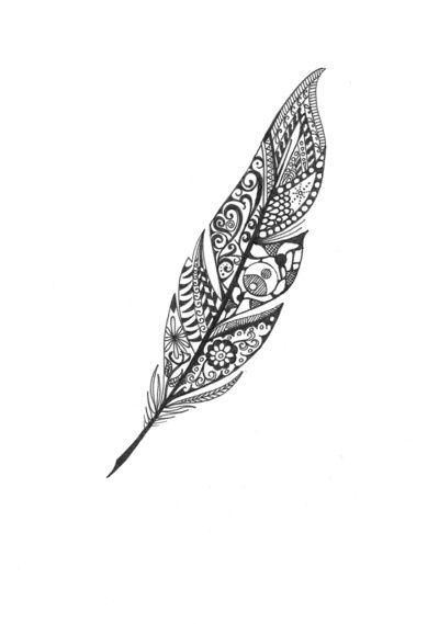 Feather Art Print....for a twist on the whole feather turning into birds flying classic