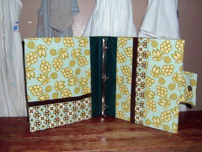 fabric cover 3-ring binders