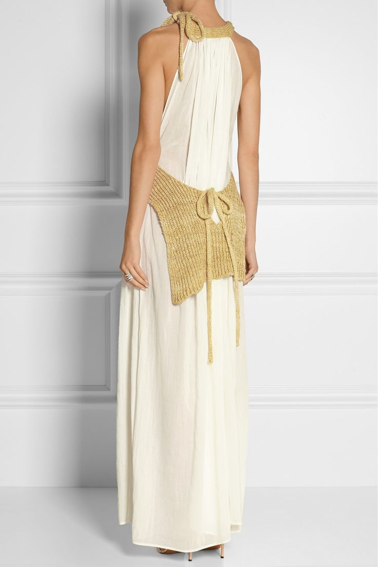 Loewe | Knitted silk and gauze maxi dress