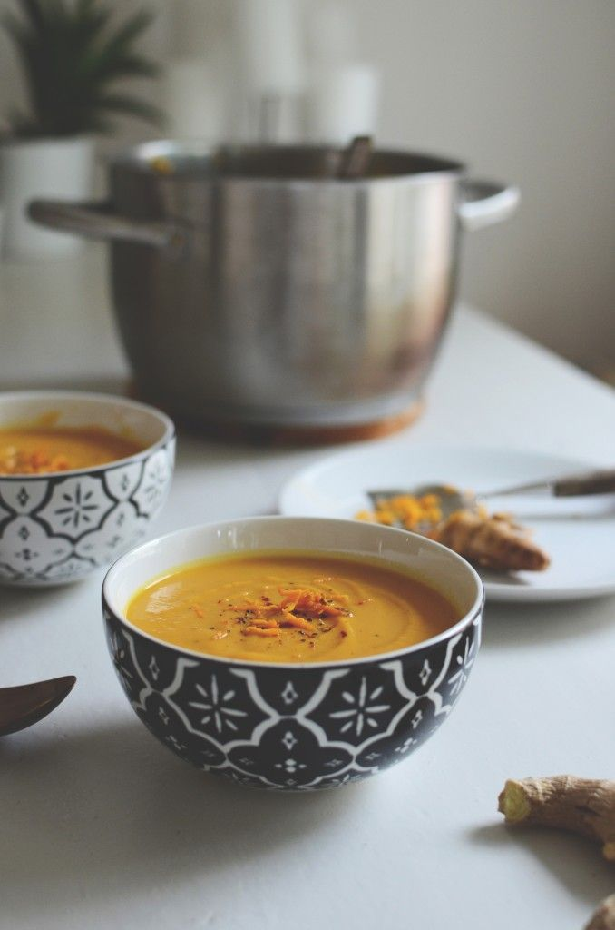 Spiced sweet potato soup with ginger & coconut milk | Uusia tuulia