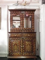 Antique++Vintage+Teak+Bone+Inlay+Cabinets
