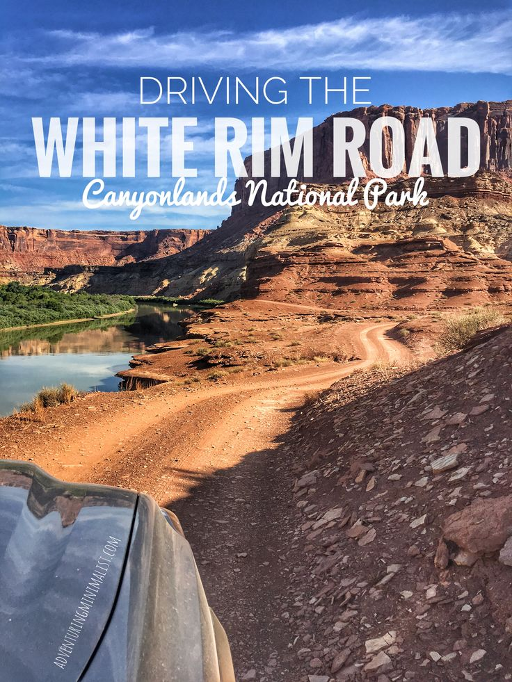 Driving the white rim road Canyonlands National Park - adventuringminimalist.com