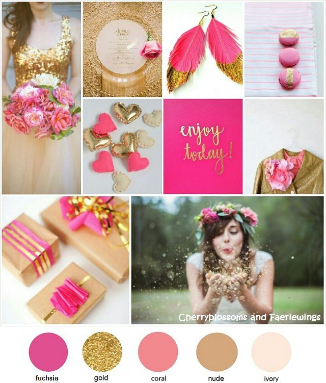 Color Series #16 - Fuchsia + Gold Wedding #cbfwblogcolorseries