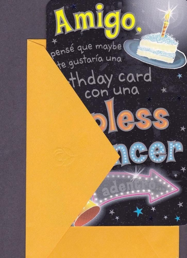 92 best spanish greeting cards images on pinterest spanish spanish birthday greeting card humorous m4hsunfo