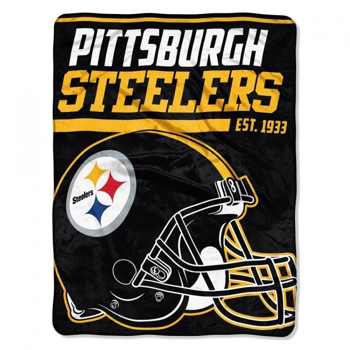 Pittsburgh Steelers Blanket - Micro Raschel Throw - 46 in x 60 in - Rolled - 40 Yard Dash Style