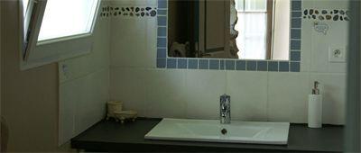 Une des salles de bains des Chambres d'hôtes et gîte à vendre à St-André-de-Seignanx près Biarritz dans les Landes