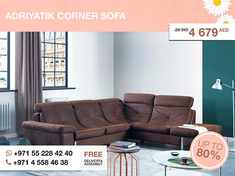 Looking for extremely qualitative and stylish sofa, you should notice the Adriyatik corner sofa. After a glint you'll understand, how gorgeous it is. Turkish design, unusual form, guarantee of comfort – the Adriyatik is the best for big house. Try it! More details here: http://gtfshop.com/adriyatik-corner-sofa All items from the #GTF_Spring_sale up to 80% OFF are in our outlet