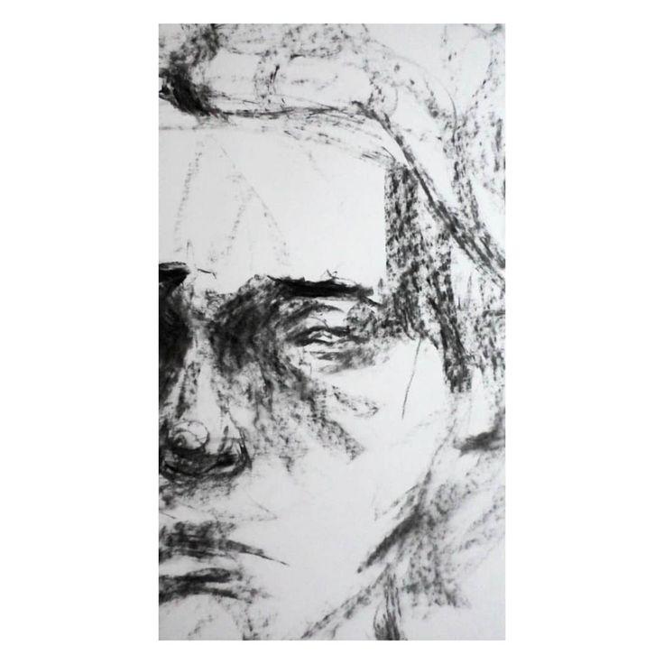 Träumer (2019) Kohle auf Papier, 200x50cm • • • •  art  drawing  illustration  traditionalart  ballpoint  malerei  skizze  zeichnung  skizzen…