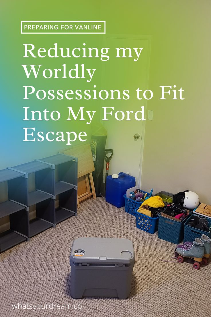 Deciding you want to moving into a tiny home and then actually moving forward with getting rid of most of your belongings so that you do so, is another part of the story that not many people talk about. Follow along on my journey as I move into my Ford Escape and going on crazy hiking adventures. whatsyourdream.co #vanlife #vanlifediaries #overlanding #overlander #suvcamperconversion #fordescapecamperconversion #camperconversion #donating #minimalist #minimalism Ford Escape camper conversion