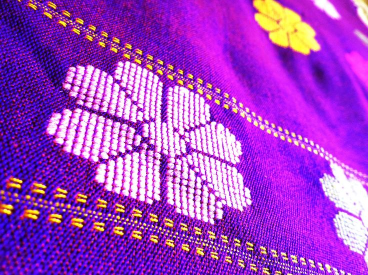 Kurta Fabric from Assam - Purple from Lal10.com
